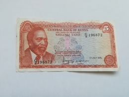 KENIA 5 SHILINGI 1978 - Kenya