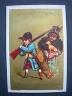 CHROMO Doré Litho F Appel A LA BELLE JARDINIERE JOHN FAIS TAIRE MEDOR ... SES ABOIEMENTS FONT... / Victorian Trade Card - Autres