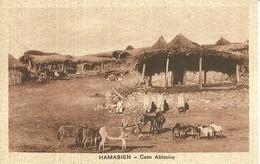 """2767 """" HAMASIEN - CASE ABISSINE """" CART.POST. ORIG NON SPED. - Eritrea"""