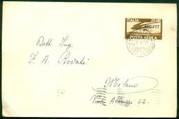 """V9506 ITALIA TRIESTE A 1950 FDC Lettera Affrancata Con 25 L. PA Democratica Sopr. AMG-FTT Da """"Trieste Punto Franco 23.1. - 7. Trieste"""