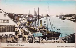Germany Gruss Aus Libau Der Hafen 1910 - Germany