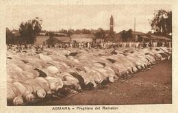 "2768 "" ASMARA - PREGHIERA DEL RAMADAN "" CART.POST. ORIG NON SPED. - Eritrea"