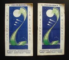 PROGRAMMI N 1 E 2 LA BIENNALE DI VENEZIA 1938 TEST PILOT GABLE HEIMAT PANENSTVI - Non Classificati