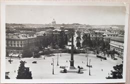 Italy Roma Piazza Del Popolo Tram 1917 Bend In NE - Italy