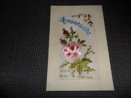 Carte Brodée ( 26 )  Geborduurde Kaart   1891   1917 - Brodées