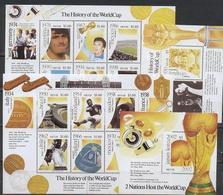 Nevis, 2001  World Cup 2002, 2 Sheetlets + 2 Blocks - Coupe Du Monde