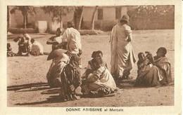 """2771 """" DONNE ABISSINE AL MERCATO """" CART.POST. ORIG ANIMATA NON SPED. - Eritrea"""