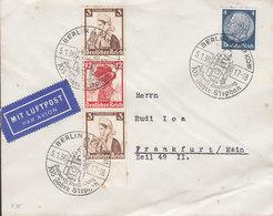 Germany Deutsches Reich Sonderstempel BERLIN PANKOW 1936 Cover Brief Booklet Markenheftchen S 238 Volkstrachten Nothilfe - Deutschland