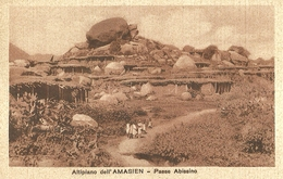 """2773 """" ALTIPIANO DELL'AMASIEN - PAESE ABISSINO """" CART.POST. ORIG ANIMATA NON SPED. - Eritrea"""