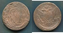 RUSSIE - CATHERINE II - 5 KOPEKS 1766 EM - EKATERINBOURG - Russie