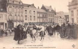 AIRE Sur La LYS 1918  LA GRAND PLACE LES TROUPES MAROCAINES - Aire Sur La Lys