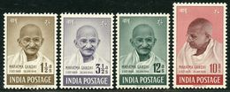 INDIA STAMPS, 15 AUG 1948, SET OF 4, MAHATMA GANDHI, MNH - 1947-49 Dominion