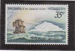 VV7 - Norfolk 131 ** MNH De 1973 - COOK Et RESOLUTION - Cercle Polaire Antarctique 17 Janvier 1773 - - Ile Norfolk