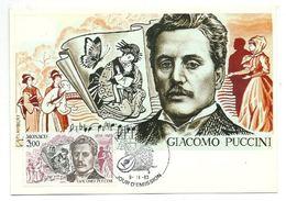Carte Maximum Monaco   Giacomo Puccini -1983 - Maximumkarten (MC)