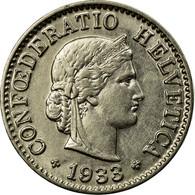 Monnaie, Suisse, 5 Rappen, 1933, Bern, TTB, Nickel, KM:26b - Suisse