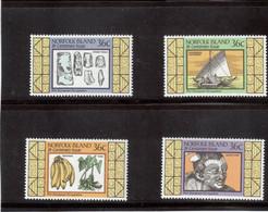 VV7 - Norfolk 393 / 396 ** MNH De 1986 - Outils - Pirogues - Fruits - Chef MAORI - - Ile Norfolk