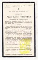 DP Maria L. Verniers ° Oostakker 1884 † Sint-Amandsberg 1935 X L. Mareen / Gent - Images Religieuses