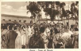 """2778 """" ASMARA - PIAZZA DEL MERCATO """" CART.POST. ORIG ANIMATA NON SPED. - Eritrea"""