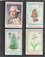 VV7 - Norfolk 150 / 153 ** MNH De 1974 - Captain COOK - RESOLUTION - Flore - Arancaria Exulsa Et Lin De Norfolk - - Ile Norfolk