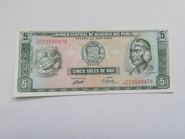 PERU 5 SOLES DE ORO 1972 - Pérou