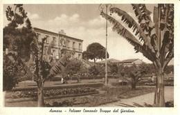 """2780 """" ASMARA - PALAZZO COMANDO TRUPPE DAL GIARDINO """" CART.POST. ORIG  NON SPED. - Eritrea"""