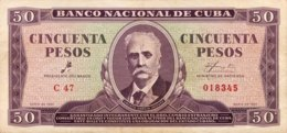 Cuba 50 Pesos, P-98 (1961) - Very Fine - Che Signature - Cuba