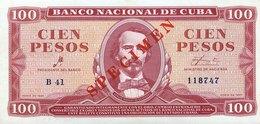 Cuba 100 Pesos, P-99s (1961) - UNC - SPECIMEN - Che Signature - Cuba
