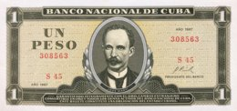 Cuba 1 Peso, P-102a (1967) - UNC - Cuba