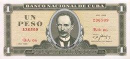 Cuba 1 Peso, P-102d (1988) - UNC - Cuba