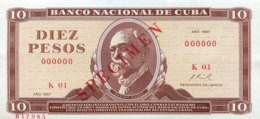 Cuba 10 Pesos, P-104aS (1967) - UNC - SPECIMEN - Cuba