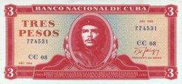 Cuba 3 Pesos, P-107b (1989) - AUNC - Che Banknote - Cuba