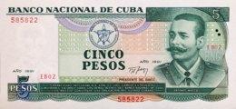 Cuba 5 Pesos, P-108 (1991) - UNC - Cuba