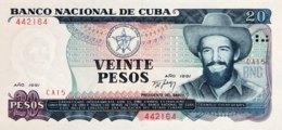 Cuba 20 Pesos, P-110 (1991) - UNC - Cuba