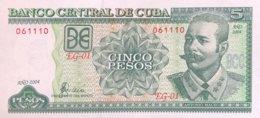 Cuba 5 Pesos, P-116g (2004) - UNC - Cuba