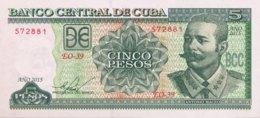 Cuba 5 Pesos, P-116o (2015) - UNC - Cuba