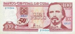 Cuba 100 Pesos, P-120 (2000) - UNC - 50 Years Central Bank - RARE! - Cuba