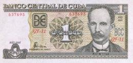 Cuba 1 Peso, P-121e (2005) - UNC - Kuba