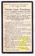 DP Dienstknecht Fam. Gilles De Pelichy - Charles L. Verschoore / Catteeuw ° Lendelede 1873 † Izegem 1930 - Images Religieuses