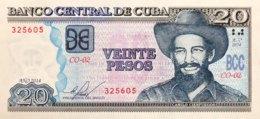 Cuba 20 Pesos, P-122i (2014) - UNC - Cuba