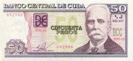 Cuba 50 Pesos, P-123j (2015) - UNC - Cuba