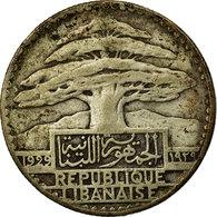 Monnaie, Lebanon, 50 Piastres, 1929, Paris, TB, Argent, KM:8, Lecompte:41 - Liban
