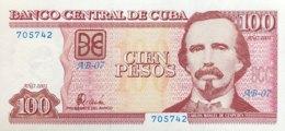 Cuba 100 Pesos, P-124 (2001) - UNC - Cuba