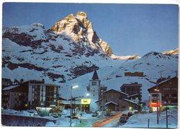 CERVINIA - BREUIL M. 2050 (Valle D'Aosta) - Tramonto Sul Monte Cervino M. 4478 E Scorcio Panoramico - Italia