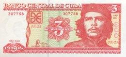 Cuba 3 Pesos, P-127a (2004) - UNC - Che Banknote - Cuba
