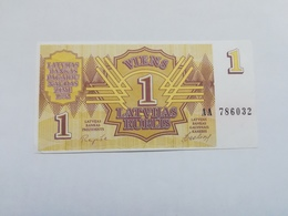 LETTONIA 1 RUBLIS 1992 - Lettonia