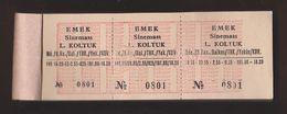 AC - EMEK CINEMA 100 PIECES UNUSED TICKETS WITH COUNTERFOILS 0801 - 0900 BALIKASIR, TURKEY - Concerttickets