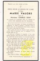 DP Marie Valcke ° Menin Menen 1878 † 1938 X Charles Deny - Images Religieuses