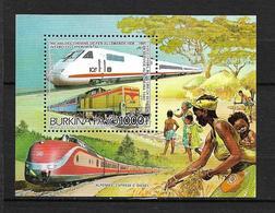 BURKINA FASO  1986  B.F N° 33   Locomotives  NEUF - Burkina Faso (1984-...)