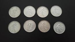 Pieces Argent 50c 1f 5f Et 10f - France