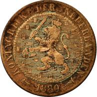 Monnaie, Pays-Bas, William III, 2-1/2 Cent, 1880, B, Bronze, KM:108.1 - [ 3] 1815-… : Royaume Des Pays-Bas